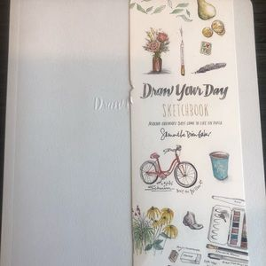 Other - Draw Your Day Baby Blue Sketch Book ADORABLE